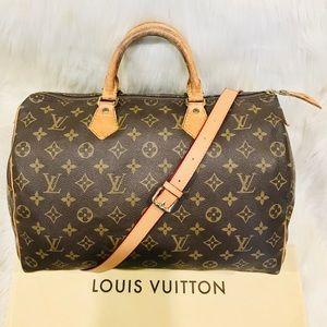 Authentic Louis Vuitton Speedy 35 #5.3ahj